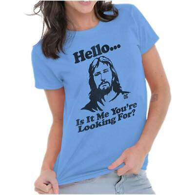 Funny Jesus Christ Religious Music Gift Ladies T Shirt for Women and Girls Girls Ladies Shirt