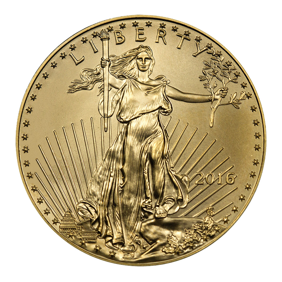 2016 $5 1/10 Troy Oz American Gold Eagle Coin SKU38291