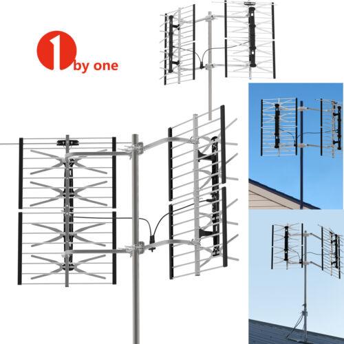 1byone Outdoor TV Antenna Motorized Amplified HDTV 1080P 360