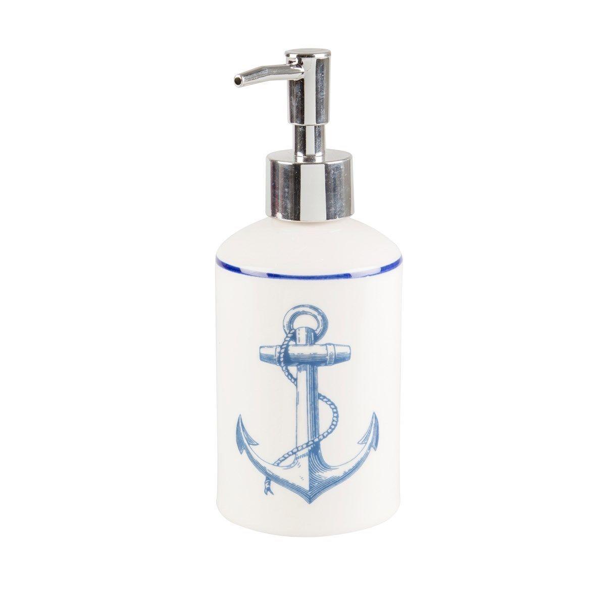 Blue Sea Nautical Vintage Bathroom Accessories Set Toothbrush Holder ...