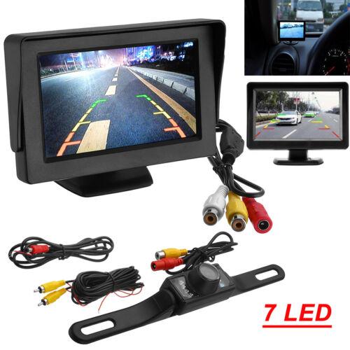 """4.3"""" LCD Monitor Car Camera Rear View Backup Parking Reverse Kit Night Vision"""