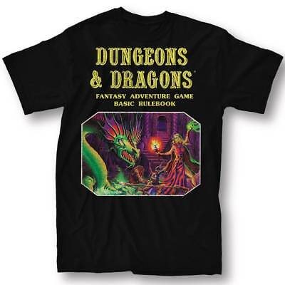 DUNGEONS & DRAGONS BASIC RULE BOOK BLACK T-SHIRT X-LARGE NEW #soct17-408