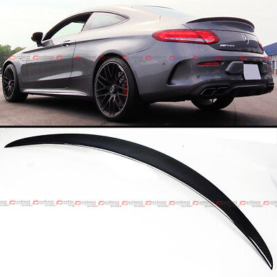 FOR 2015-18 MERCEDES BENZ W205 C-CLASS 2DR COUPE CARBON FIBER TRUNK SPOILER WING