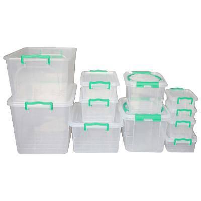 AUFBEWAHRUNGSBOX TRANSPARENT BOX KUNSTSTOFFBOX KLAPPBOX PLASTIKBOX 1-30l