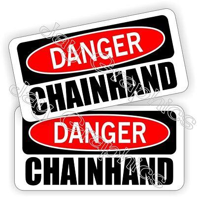 Hard Hat Stickers Danger Chainhand Motorman Worm Oilfield Helmet Decals