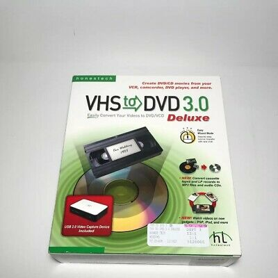 HonesTech VHS To DVD 3.0 Deluxe Video Converter VCD WMV MPEG Windows Vista or XP