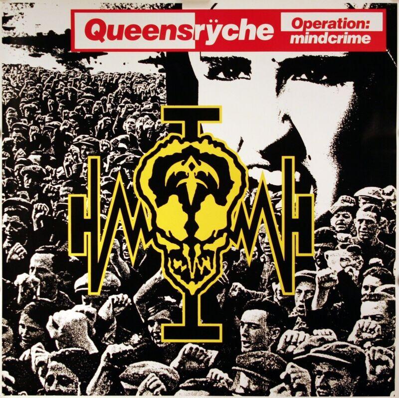 Queensryche 1988 Operation Mindcrime Original Promo Poster