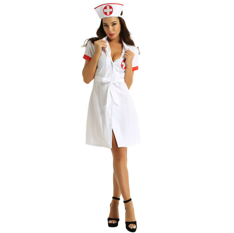 Nurse Dazzle Costume, Comes with Dress with Garter Straps