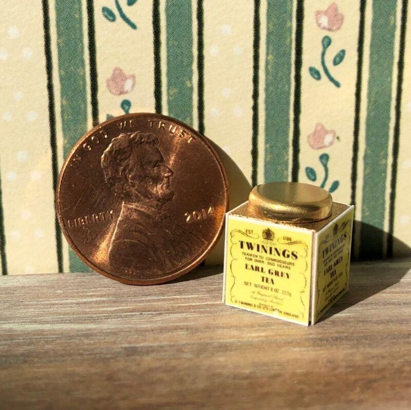 Dollhouse miniatures Beverage 1:12 Earl Grey Tea Tin NEW