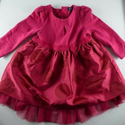 Baby Gap Red Pink Fancy Dress 18-24 month Toddler Girl Outfit Party Vestido Nina for sale  Shipping to India