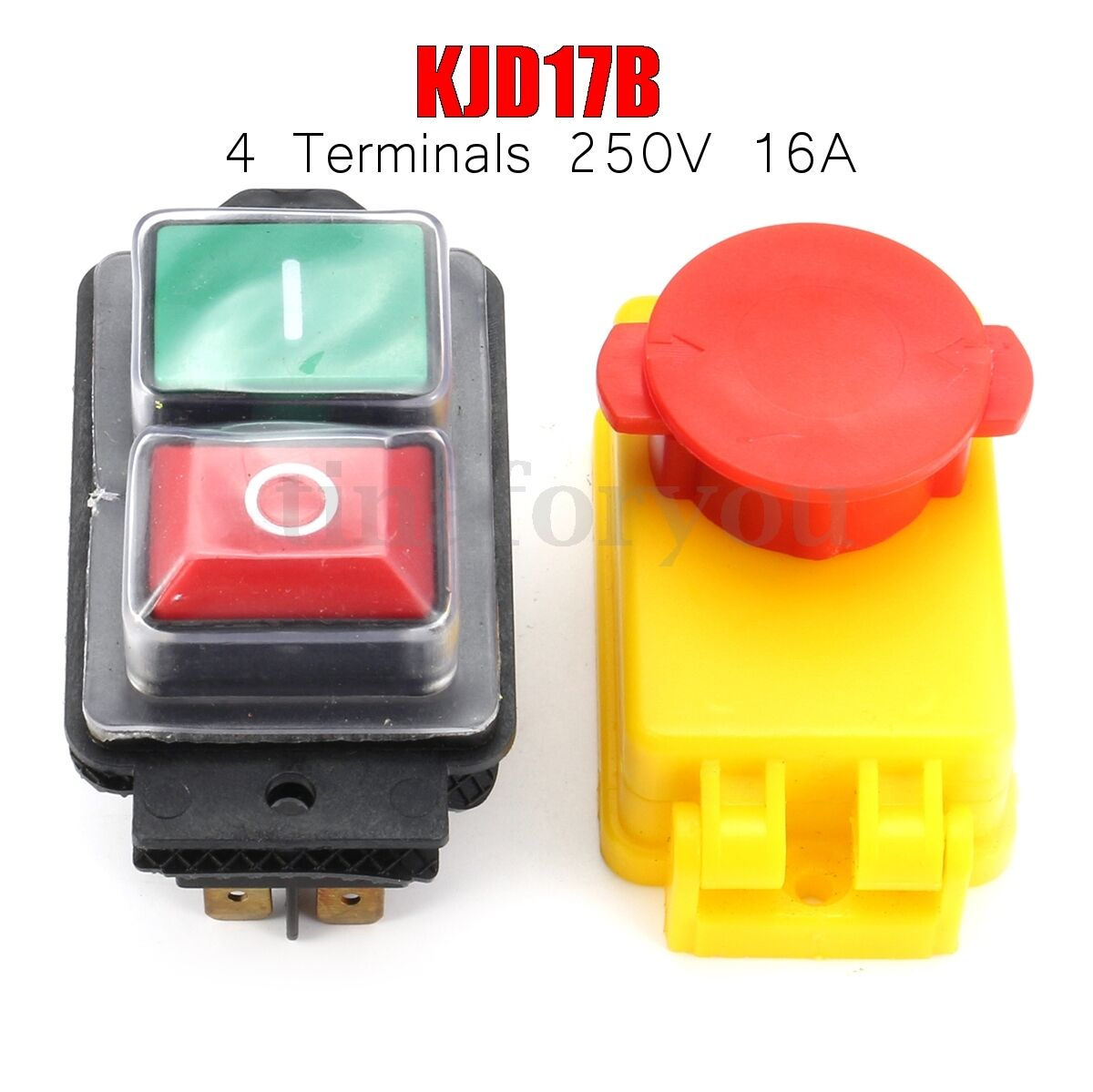 KJD17B 250V 16A IP54 5E4 Machine Emergency Stop Switch No Volt Release Switch