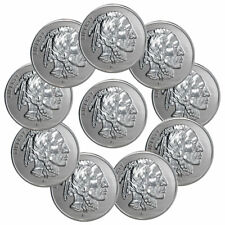 Lot of 10 - Buffalo Design 1 oz Silver Round Reverse Proof SKU58487