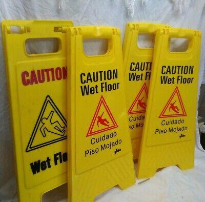 Caution Wet Floor 2-sided Floor Sign 24english Spanish