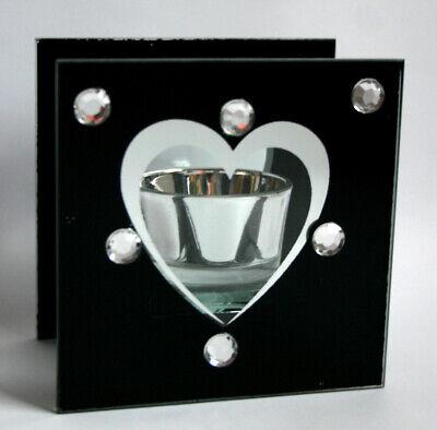 Teelichthalter tolles Geschenk Tischlicht Glasdeko Neu