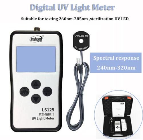 UV Light Meter Radiometer With UVCLED probe For Testing 240nm-320nm LED Light