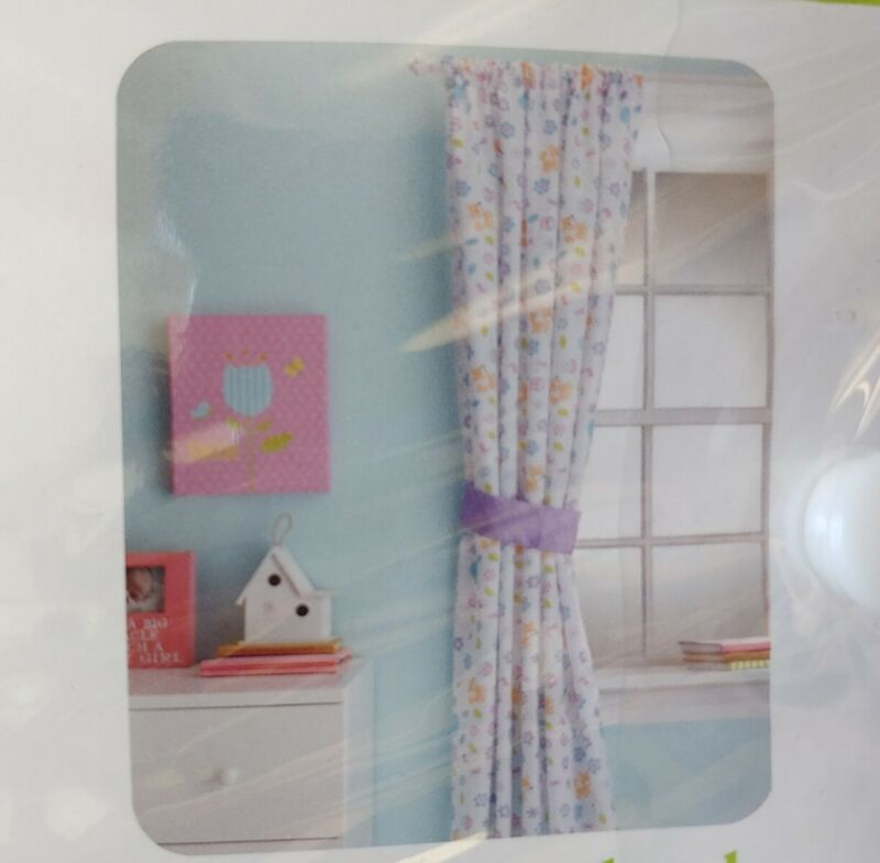 Little Love by NoJo Adorable Orchard Window Panel, Multi-Colored NEW