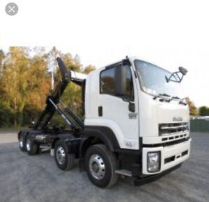 Hooklift truck driver