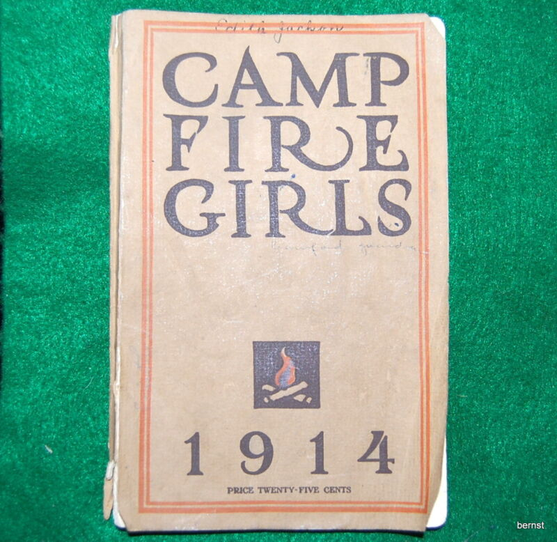 VINTAGE 1914 BOOK OF THE CAMPFIRE GIRLS  4th REVISED EDITION  -NOT SCOUT