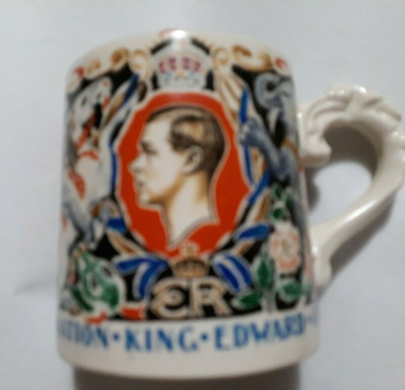 King Edward VIII Coronation cup  Rare Laura Knight England