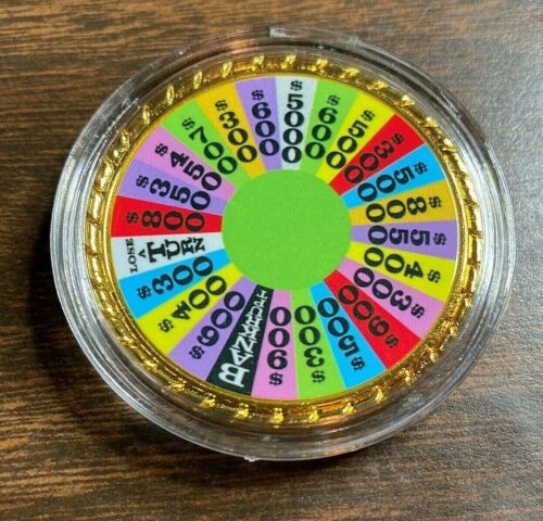 Cool Wheel of Good Fortune Good Luck Rainbow  Lucky Charm Coin