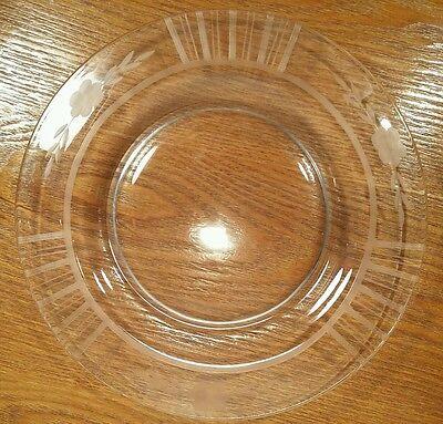 Elegant Depression Glass Floral & Band Cut 8 & 1/2