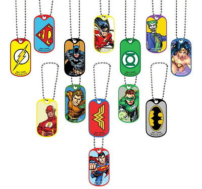 24 Dc Comics Dog Tags 2 Dozen Keychains Batman Superman Wonder Woman Lot Bulk