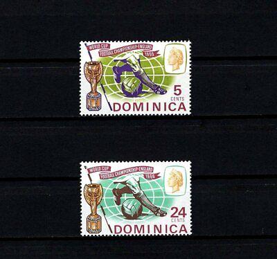 DOMINICA - 1966 - QE II - SOCCER - WORLD CUP - TROPHY - 2 X MINT - MNH SET  - $2.99