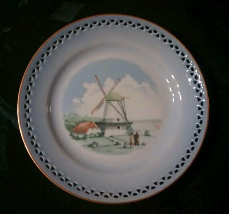 DYBBOL MOLLE 3563 WINDMILL HOLLAND Blue Plate COPENHAGEN Porcelain Denmark 616.5