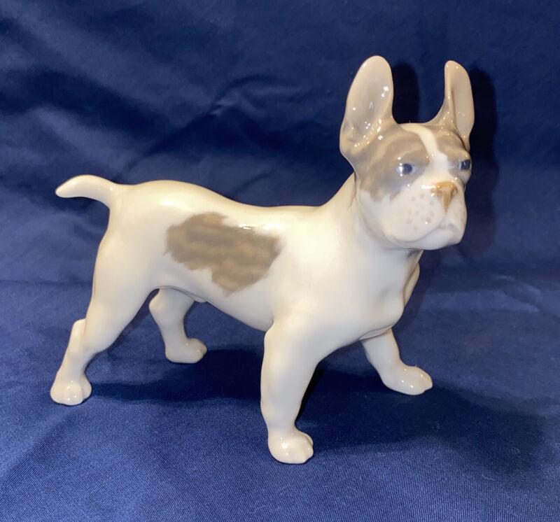 Royal Copenhagen French Bulldog Porcelain Figurine