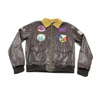Adult Top Gun Costume (Top Gun Jacket Adult Flight Bomber Maverick Costume reenactment tag removed)