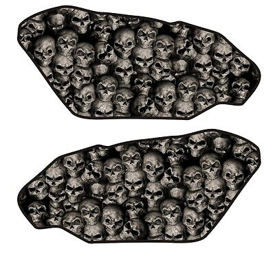 Motorcycle Side Gas Tank Pad 3D Gel Dome Skull Wall Natural Protector Side Guard