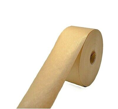 Packing Gummed Tape Water Activated Reinforced Kraft Paper Wide 2.88