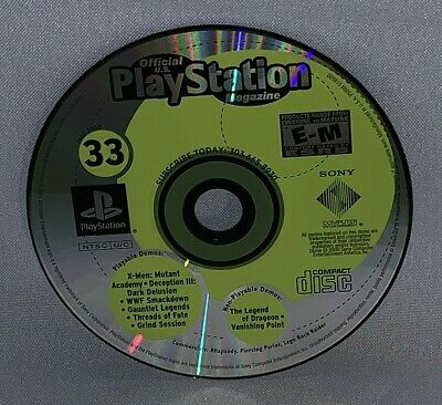 Official Playstation Magazine June 2000 Demo Disc Only #33