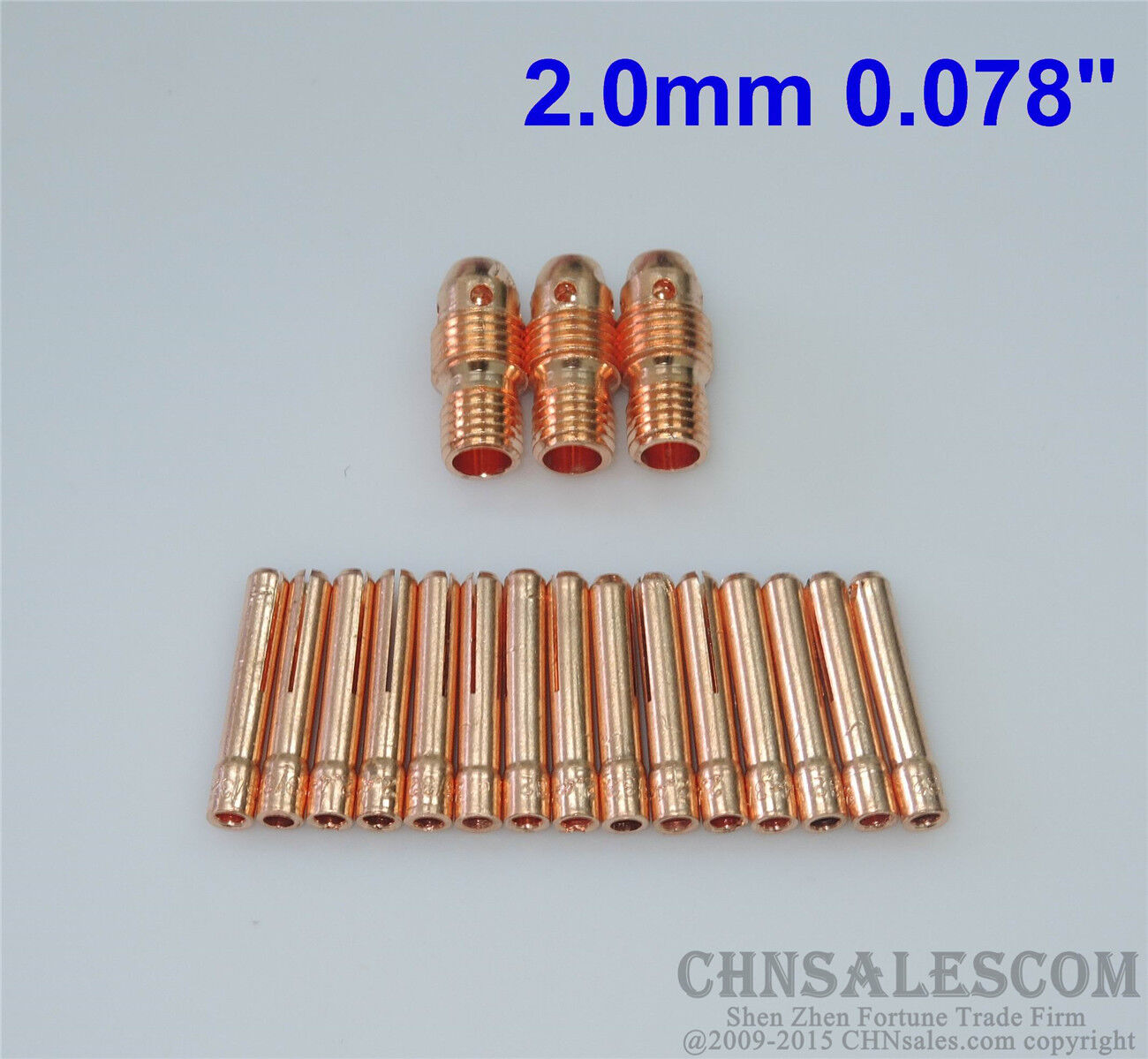"20 pcs 13N27M Collet Body 13N23M Collet for Tig Welding WP-9//20//25 2.0mm 0.078/"""