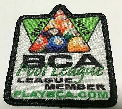 NEW 2002 2003 BCA 8 BALL POOL BILLIARD SEWN PLAYER LEAGUE MEMBER PATCH