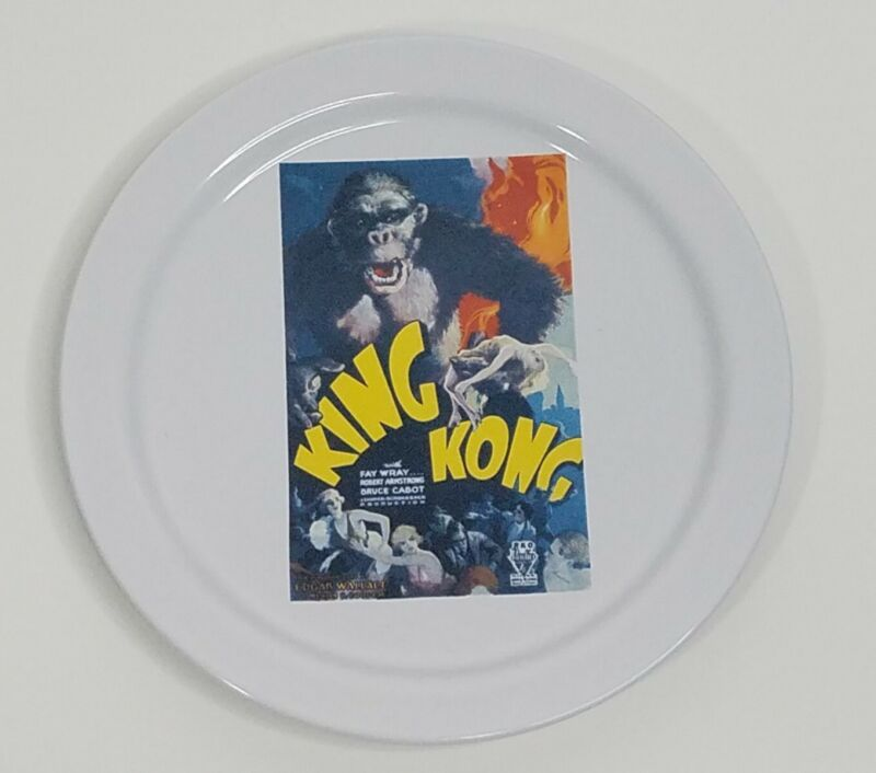 Pottery Barn x TCM King Kong Movie Poster Salad or Appetizer Plate 8.25 Inches