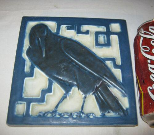 ANTIQUE C. 1925 PREMIUM QUALITY ROOKWOOD POTTERY ROOK BIRD TILE ART TRIVET USA