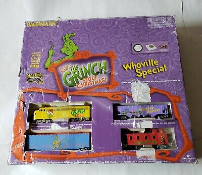 BACHMANN- 'HOW THE GRINCH STOLE CHRISTMAS' WHOVILLE SPECIAL TRAIN HO SCALE Read