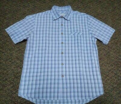 Quiksilver Button Down Aloha Shirt Blue Mens Size M