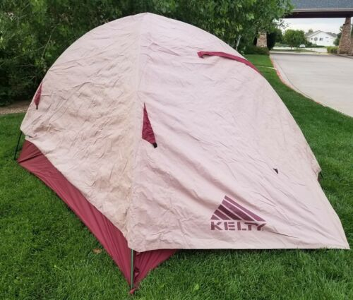 KELTY Grand Mesa 4 (4-Person) Camping TENT w/Rainfly + Poles + Stakes