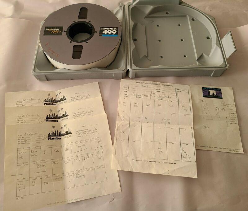 """Ampex Grand Master 456 1/2"""" Reel To Reel Tape 10.5"""" metal reel"""