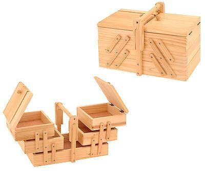 Nähkästchen Nähkasten Nähkorb Nähkiste handbemalt Schmuckkästchen Holz groß NEU