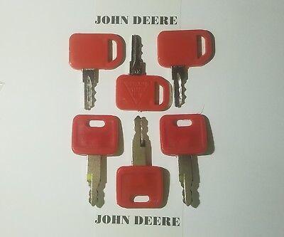 6 John Deere Keys 3 Of Each Key Heavy Equipment Ignition Excavator Keys Jd