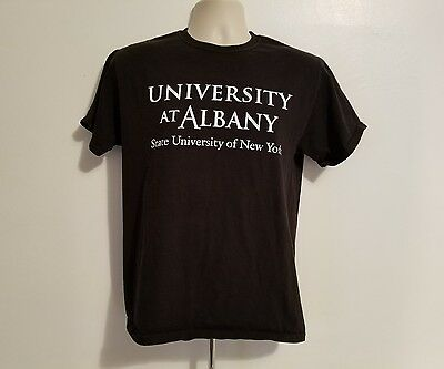 State University Of New York At Albany Ualbany Adult Black Medium Tshirt
