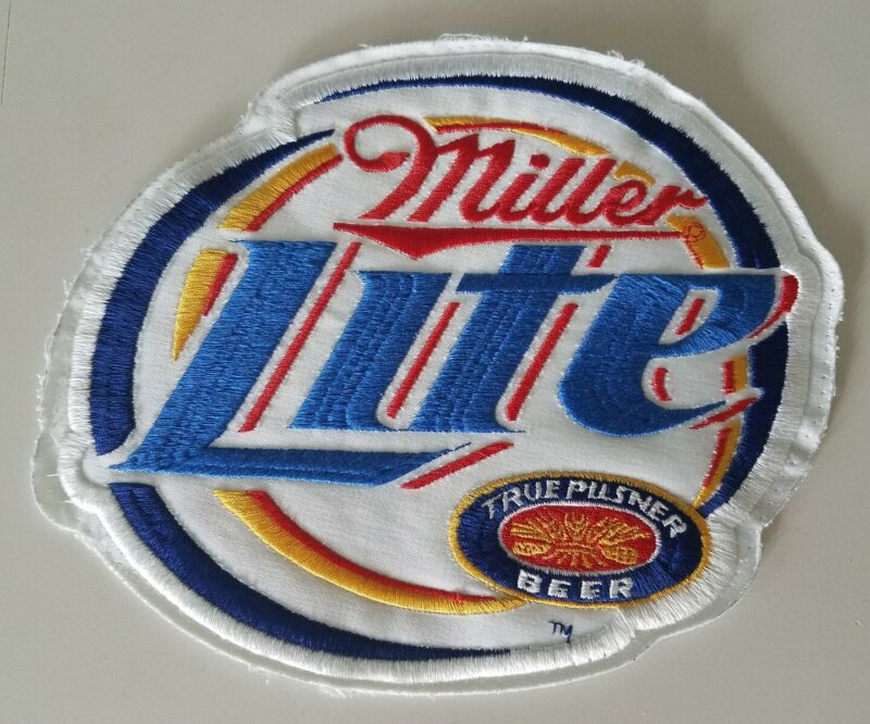 Vintage LARGE Miller Lite True Pilsner Beer Patch