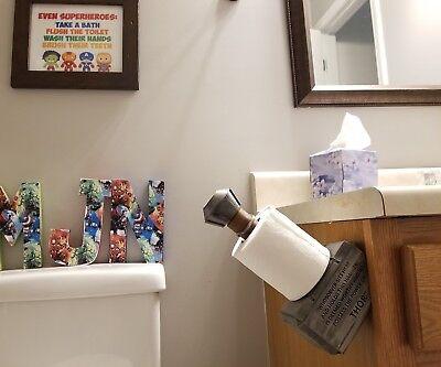 Mjolnir Thor's hammer toilet paper holder Marvel Avengers bathroom decor TP - Holder Bathroom Decor