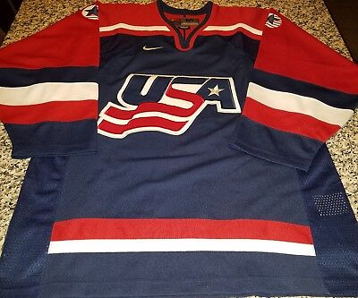 3ad0a30f140 1998 Nike Team USA Mens Olympic Hockey Jersey Size Medium Pristine Condition