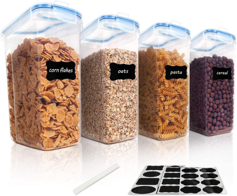 Cereal Storage Container Set, Free Plastic Airtight Food Sto