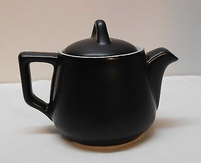 Black and White Teapot Hall Pottery Vintage  ()
