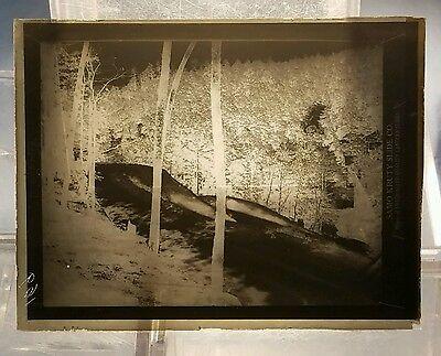 Vintage GLASS NEGATIVE SLIDE Hot Springs Arkansas -- West Mountain